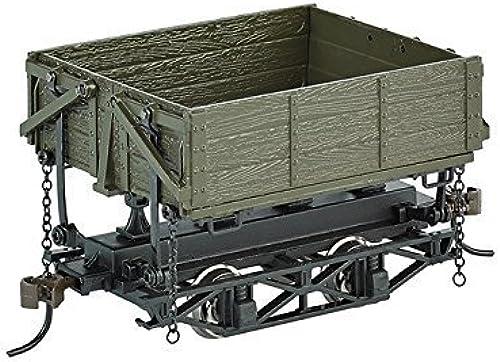 On30 Spectrum Wood Side Dump Car, Grün (3) by Bachmann Trains