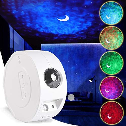 LED-stjärna projektor nattlampa, RHM Galaxy projektorlampa med färgglad nebula moln/havsvåg, timer och fjärrkontroll, perfekt för barn, vuxen sovrum, spelrum, hemmabiosystem dekoration