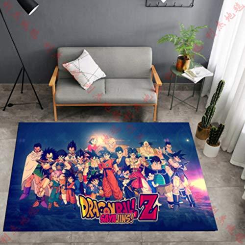 Teppich Dragon Ball Super Anime Teppich Goku Vegeta Super Saiyajin Drachenteppich Wohnzimmer Schlafzimmer Zimmer Kinderzimmer Garderobe Crawling Floor Mat