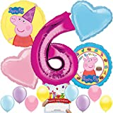 Peppa Pig Party Supplies Balloon Decoration Bundle for 6th Birthday