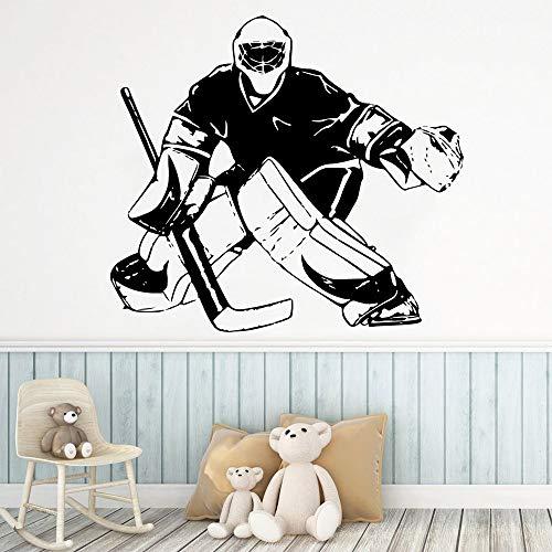 Tianpengyuanshuai Lustige Hockey Wandmalerei abnehmbare Wandtattoo Kinderzimmer Wohnkultur 85X94cm