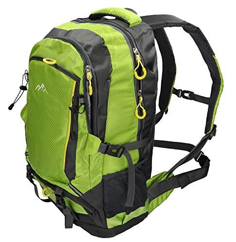 BETZ Rucksack Wanderrucksack Damen Herren Reise und Camping Freizeitrucksack Vier Taschen Volumen 33 Liter Capacity I Farbe grün