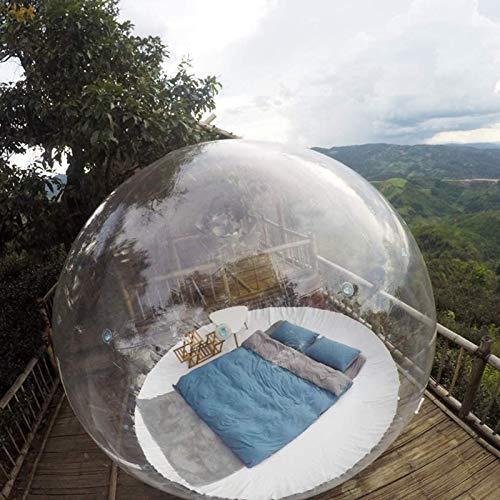 Aufblasbar Transparent Zelt Bubble House Air Dome Camping Lodge - 360 ° Panorama Kuppel mit Luftpumpe Perfekt für Entspanne den Körper Blick auf die Sterne