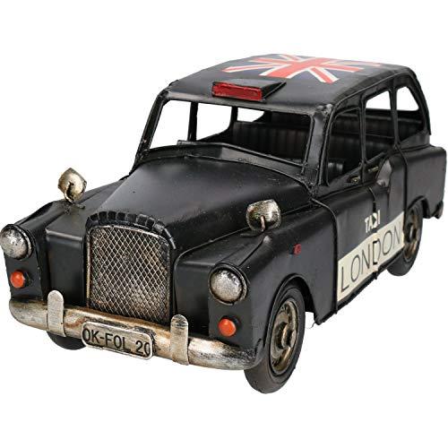 London Black Taxi Cab Car Metal Ornament Model Sculpture Replica Automobile