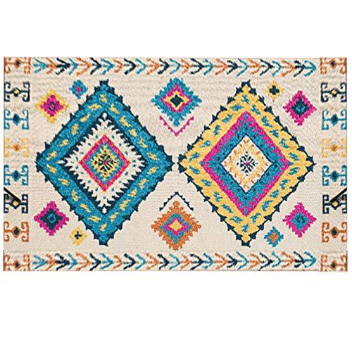 Homeriy Alfombra vintage bohemia, diseño tradicional persa oriental, bohemia, elegante, vintage, para dormitorio, cocina