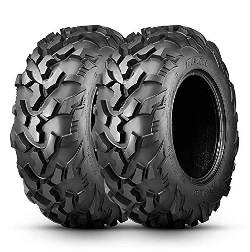 OBOR Riple Set Of 2 ATV Mud Tires 26X9X12, 6PR Professional GNCC Racing Tires, 26X9R12 Radial Utility ATV All-Terrain Tires