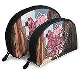 XCNGG Sword Art Online Bolsas de cosméticos Bolsa portátil Conjunto de bolsa de embrague Mujeres Hombres Monedero de viaje con cremallera Organizador de bolsos 2 uds