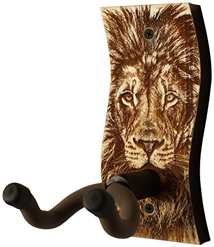 Guitar Hanger - Laser Cut & Engraved Guitar Hanger - Great for All Guitars! Solid Maple or Walnut Wood and a Beautiful Engraved Design. Made in USA! (SW - Peace - Walnut)