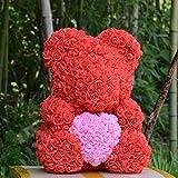 GuLin La Rose Teddy Bear Artificielle Forever Rose, Approprié au Cadeau Charmant de...