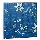 goodsaleA Cortina De Ducha,Un Elegante Holly Seamless Pattern.Set de decoración de baño de Tela con Ganchos 180cmx180cm
