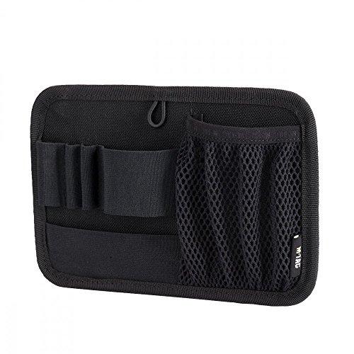 M-Tac Tactical Bag Insert Modular Organizer Utility Admin Pouch Hook Fasteners - Key Holder (Black)