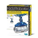 4M 68396 Blechdosen Seilbahn KidzRobotix, Konstruktionsbausatz für Kinder ab 8 Jahren, bunt