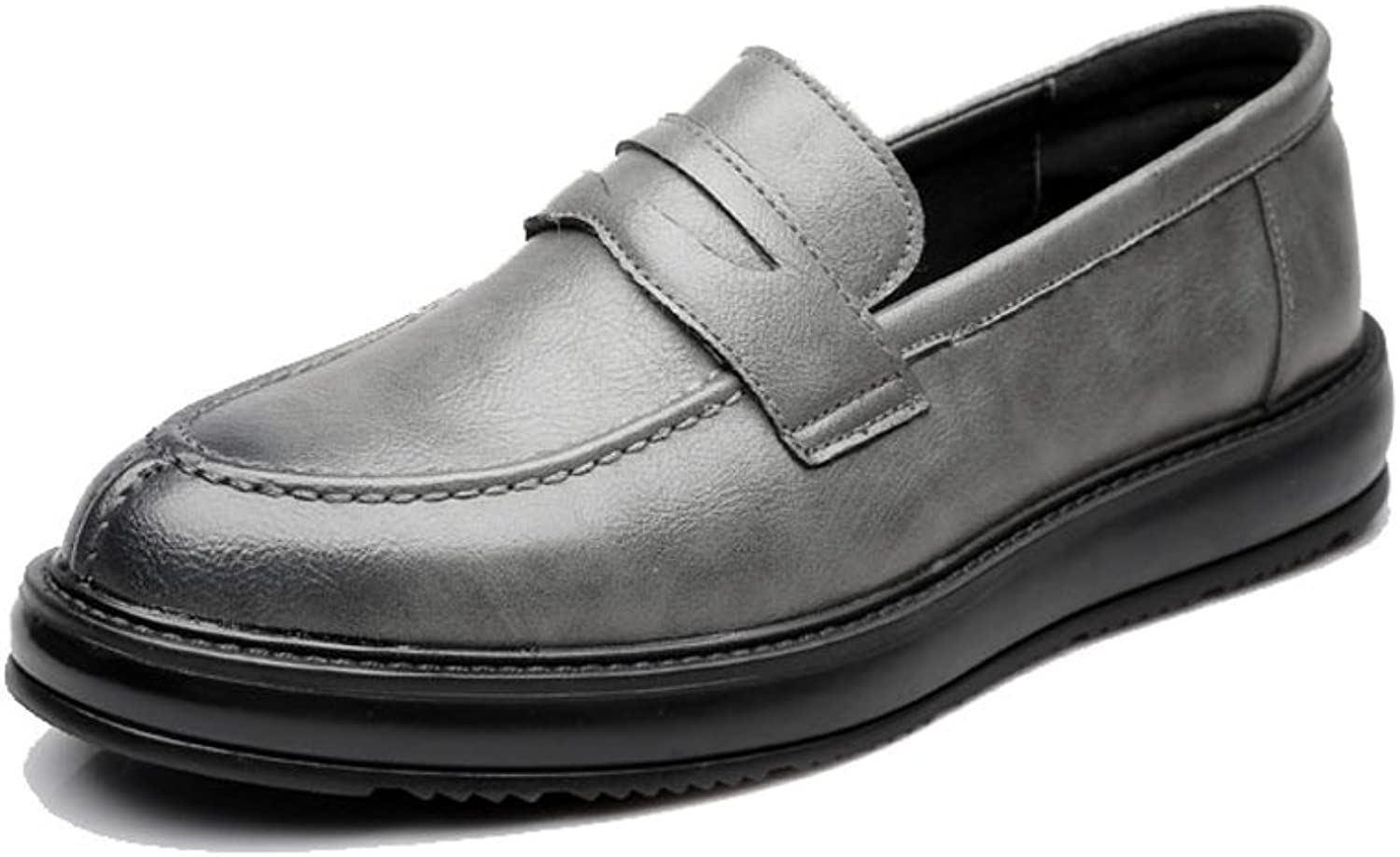 XHD- Classic shoes Simple Men's Formal Business shoes Classic Slip-on Loafers PU Leather Casual Outsole Oxfords