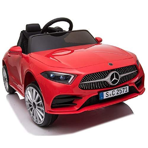 crooza Mercedes-Benz CLS350 Kinderauto Rot Kinder Elektro Elektrofahrzeug mit Fernbedienung mp3, USB, 2X Starke Motoren UVM.