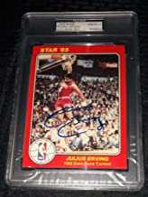 Julius Erving Dr J Autographed Signed 1985 Star Company Slam Dunk Contest PSA/DNA Mint 10 76ers