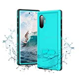Samsung Galaxy Note 10+ Plus Waterproof Case,IP68 Certificated Waterproof Shockproof Full-Body Rugged Protective Case with Kickstand for Galaxy Note10+ Plus(6.8'-Blue)