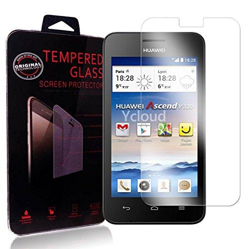 Ycloud Panzerglas Folie Schutzfolie Displayschutzfolie für Huawei Ascend Y330 screen protector mit Härtegrad 9H, 0,26mm Ultra-Dünn, Abgerundete Kanten
