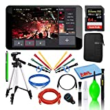 YoloLiv YoloBox Portable Multi-Camera Live Streaming Studio Device Bundle with SanDisk 64GB Extreme PRO Memory Card + Ethernet Cable + HDMI Cable + Cable Ties + Tablet Sleeve + Cleaning Kit + More