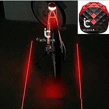 Icycheer imperm/éable Coque en silicone V/élo Si/ège arri/ère /Œuf lampe C/œur arri/ère du v/élo Cool V/élo Accessoires D/écoration de s/écurit/é pour Bicyclers to Ride la nuit