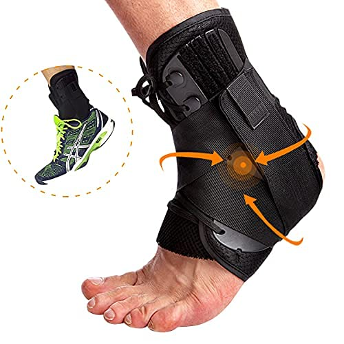 Ankle Support Brace,Adjustable Ankle Wraps for Women and Men, Lace Up Breathable for Sports Running Basketball Volleyball, Ankle Brace for Sprained Ankle, Ankle Stabilizer