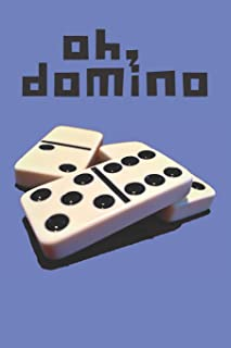 Dominoes Blank Lined Journal Notebook: A daily diary, composition or log book, gift idea for people who love playing the game of dominoes!!
