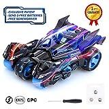 Peradix Tirer la Voiture Jouet 3 en 1 pour Enfants, Voiture avec 2 Motos Catapult, Son et lumières,jolie voiture...