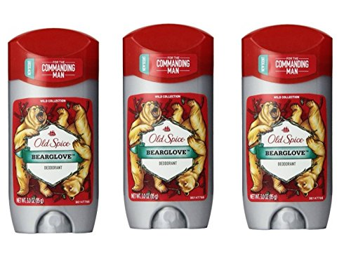 Old Spice Wild Collection Men's Deodorant, Bearglove 3 oz (Pack of 3)