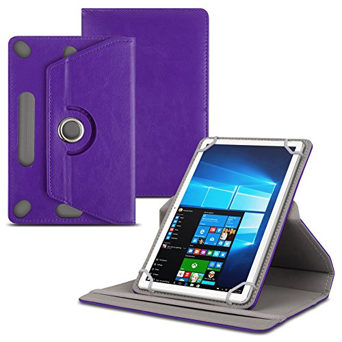 Jay-tech Tablet PC TXE10DS TXE10DW TXTE10D TXE10DW2 Tablet Schutzhülle für 10.1 Zoll Tablet Hülle 360° drehbar aus hochwertigem Kunstleder mit Standfunktion Schutz Tasche Cover Case Etui , Farbe:Lila