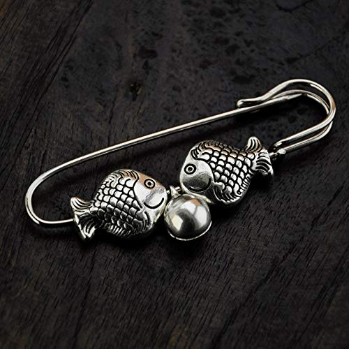 Amazing Deal Pincushions - Retro Style 3D Handmake Ring The Bell Silver for Birthday/Coat Bag Brooch...