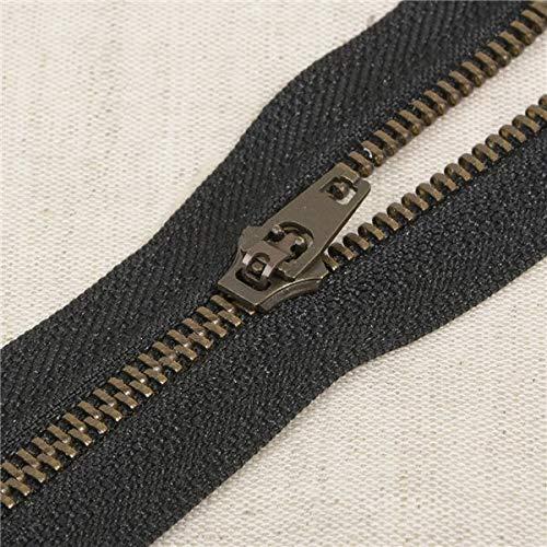 M & C Fermeture Eclair à glissière 15 cm Coloris Noir Pantalon Jeans