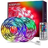 LED Strip 15m RGB LED Lichterkette Streifen Licht mit Fernbedienung led Beleuchtung Leiste Band für Schrankdeko, Party, Zuhause, Schlafzimmer, Farbwechsel