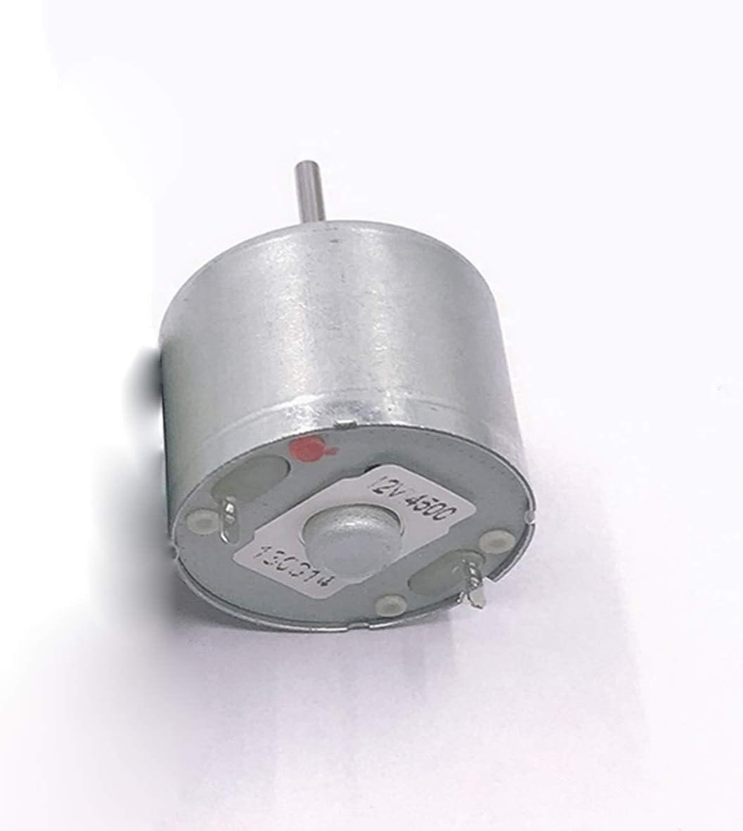 Pilang zxxin-Motores DC, Motor silencioso de 3V-12V, 24 mm RF310 Mini DC Moto, R Mini Turbina de Viento Solar Motor Solar, Duradero (Voltage(V) : B)