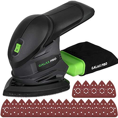 GALAX PRO Lijadora Eléctrica, Lijadora Mouse de 20V, Lijadora de Detalle, Velocidades 12000 OPM con 20 Papeles de Lijas para Decoraciones del Hogar, Sin batería/96723-2