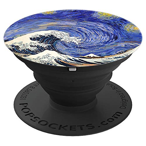 Van Gogh Starry Night and Hokusai Great Wave PopSockets Grip and Stand for Phones