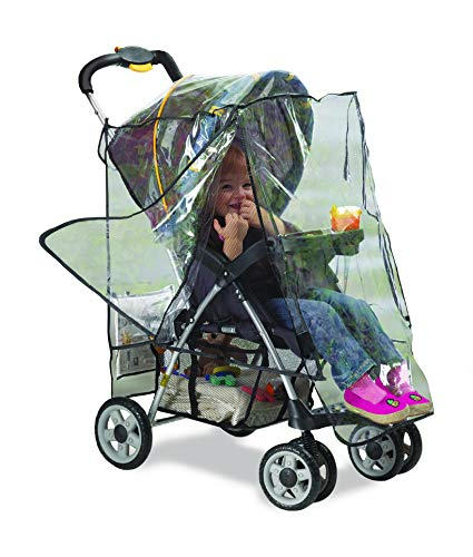 Graco Deluxe Stroller Weather Shield, Baby Rain Cover, Universal Size, Waterproof, Water Resistant, Windproof, See Thru, Ventilation, Protection, Shade, Umbrella, Pram, Vinyl, Clear, Plastic