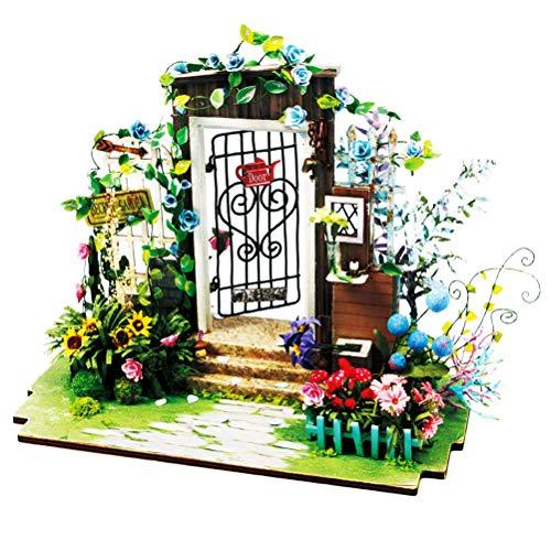 VOSAREA DIY Miniature Mini Maison Kit Fleur Jardin Maison Accessoires À La Main Assemblée Modèle Créatif Cadeau