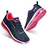 Chaussures de course à pied pour homme et femme - Avec coussin d'air - Absorption des chocs - Décontractées - Pour la marche, la gym, le jogging, le fitness et l'athlétisme - - Rose Fa2, 38.5 EU