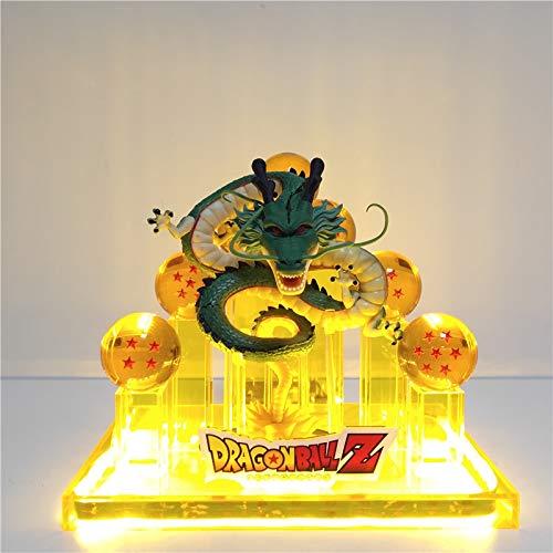 Figura De Juguete De Acción Dragon Ball Z Shenron Goku Figurita Led Lihgting Crystal Ball Dragon Ball Z Figura De Acción Goku Shenglong Toys