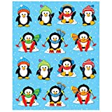 Carson Dellosa Penguin Stickers—6 Sheets of Colorful Holiday Stickers for Homework, Tests, Assignments, Winter Stickers for Classroom or Homeschool (84 pc)