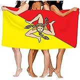 Yocmre Strandtücher Badetücher Flagge regione Sizilien Italien Europa verfügbar Flagge sici