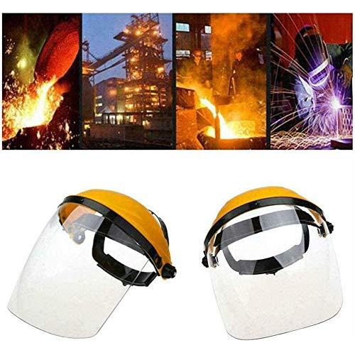 Pantallas Protectoras Faciales, Protector Facial De Seguridad Industrial Y Visera Ancha,Casco De Trinquete De Protección Facial De Seguridad con Visera Transparente Pantalla Protectora