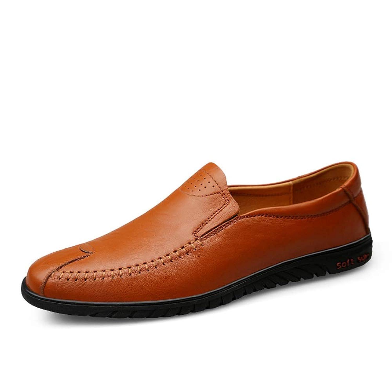 [MUMUWU] シューズ 滑り止め メンズ靴 柔軟 レザー ビジネス 衝突抵抗 長持ち 紳士 靴 防水 ビジネスシューズ