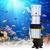 Kacsoo Filtro de proteínas para acuario, miniskimmer de proteínas, 1100 l/h, filtro de acuario colgante, bomba sumergible de bajo consumo con cepillo de aguja (para 100 – 300 L)