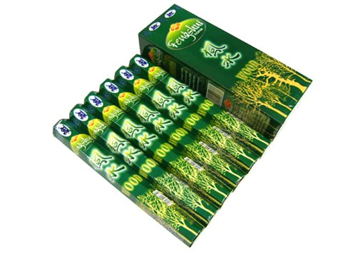 散歩心理的エスカレーターSANDESH SAC (サンデッシュ) 風水香(ウッド) スティック FENGSHUI WOOD 6箱セット