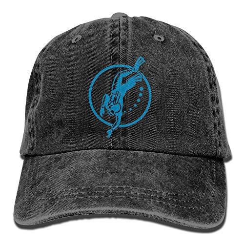 SDFRG 2020 Adult Fashion Cotton Denim Baseball Cap Tauchen Tauchen Retro Classic Dad Hat Verstellbare Plain Cap
