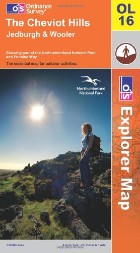 OS Explorer map OL16 : The Cheviot Hills