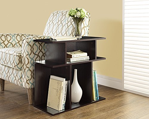 Monarch Specialties Cappuccino Accent Side Table, 24-Inch by Monarch Specialties