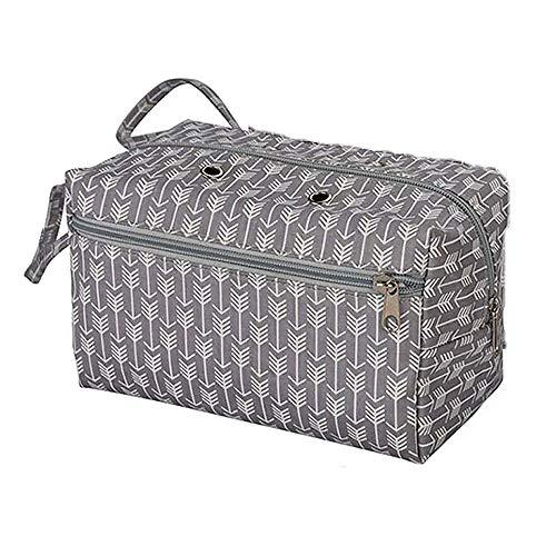 TopHomer Bolsa de almacenamiento de hilo portátil para hacer ganchillo, bolsa de acabado de hilo,...