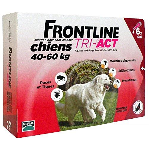 6 PIPETTE FRONTLINE TRI ACT 40-60 Kg - Antiparassitario per cani di taglia extra large