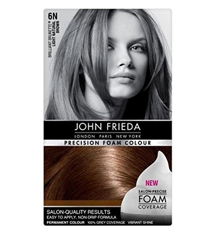 木曜日拾う洋服ライトナチュラルブラウン6Nのジョン?フリーダ精密泡カラー (John Frieda) (x2) - John Frieda Precision Foam Colour 6N Light Natural Brown (Pack of 2) [並行輸入品]